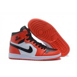 Nike Air Jordan1 Scarpe da Basket Uomo Arancio Bianco