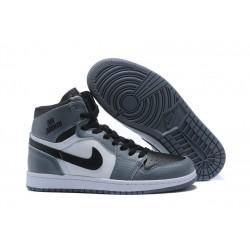 Nike Air Jordan1 Scarpe da Basket Uomo Grigio Bianco