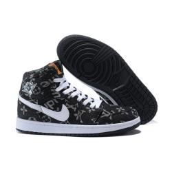 Nike Air Jordan1 Scarpe da Basket Uomo Nero Bianco