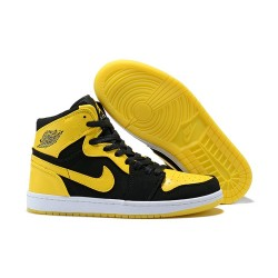 Scarpa Alta Nike Air Jordan I Retro High - Nero Giallo