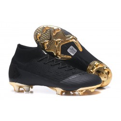 Scarpa Nuovo Nike Mercurial Superfly Vi Elite CR7 FG - Nero Oro