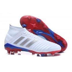 Adidas Scarpe da Calcio Predator Telstar 18.1 FG Bianco Argento