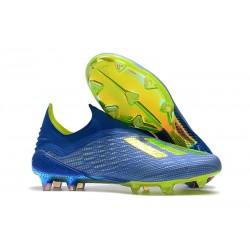Scarpa da Calcio adidas X 18+ FG Uomo - Blu Verde