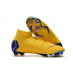 Scarpa Nuovo Nike Mercurial Superfly Vi Elite CR7 FG - Giallo Blu