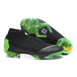 Nike Mercurial Superfly Vi Elite DF FG Scarpe Calcio - Nero Verde