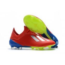 adidas X 18.1 FG Scarpa da Calcio Uomo - Rosso Argento