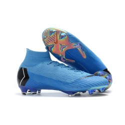 Nike Mercurial Superfly Vi Elite DF FG Scarpe Calcio - Blu Nero