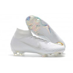 Nike Mercurial Superfly Vi Elite DF FG Scarpe Calcio - Bianca