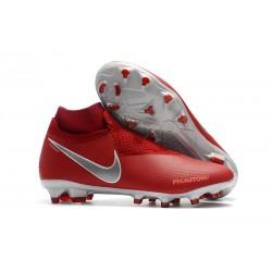 Scarpe da Calcio Nike Phantom Vision DF FG - Rosso Argento