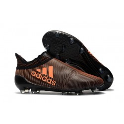 Scarpe da Calcio Nuove adidas X 17+ Purespeed FG - Marrone Arancio