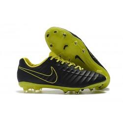 Nike Scarpa Tiempo Legend 7 FG Pelle di Canguro - Nero Verde