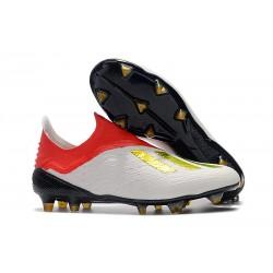 Scarpa da Calcio adidas X 18+ FG Uomo - Bianca Rosso Oro