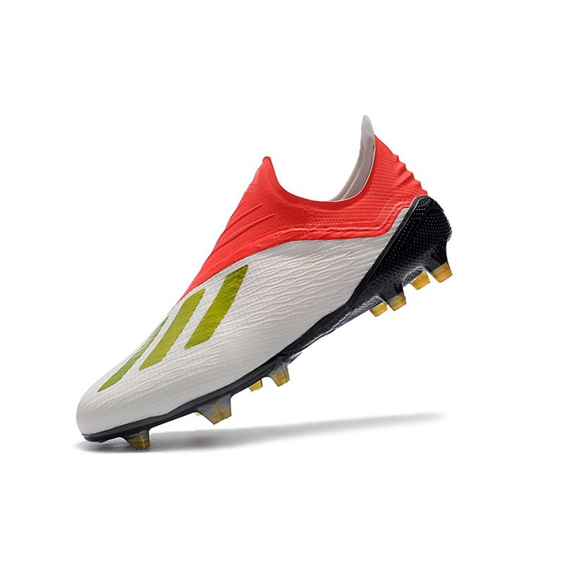 Scarpe Da Calcio adidas X 18+ FG Oro Bianco Rosso