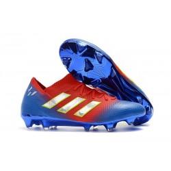 adidas Coppa del Mondo Messi Nemeziz 18.1 FG - Rosso Blu Argento