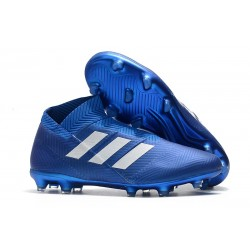 Nuove Scarpe da Calcio Adidas Nemeziz 18+ FG - Blu Bianco