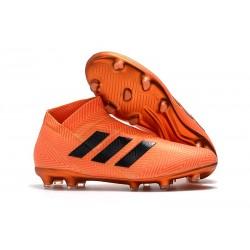 Nuove Scarpe da Calcio Adidas Nemeziz 18+ FG - Arancio Nero
