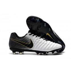 Nike Tiempo Legend VII Elite FG Scarpa da Calcio - Bianca Nero Oro
