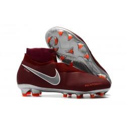 Nike Phantom VSN DF FG Scarpa Calcio - Rosso Argento