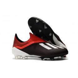 Scarpa da Calcio adidas X 18+ FG Uomo - Nero Bianca Rosso