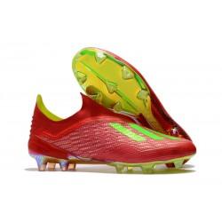 Scarpa da Calcio adidas X 18+ FG Uomo - Rosso Verde
