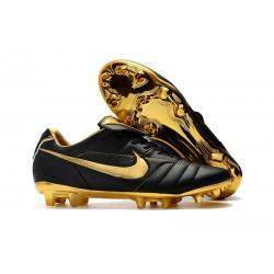 Nike Tiempo Legend VII Elite FG Scarpa da Calcio - Nero Oro