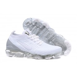 Nike Air VaporMax 2019 Flyknit Sneakers Basse - Bianco Grigio
