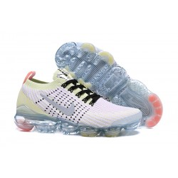 Nike Air VaporMax 2019 Flyknit Sneakers Basse - Bianco Giallo