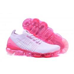 Nike Air VaporMax 2019 Flyknit Sneakers Basse - Bianco Rosa