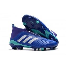 Scarpe da Calcio Nuova adidas Predator 18+ FG - Blu Bianco