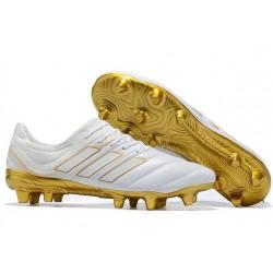 Scarpe da Calcio Adidas Copa 19.1 FG - Bianco Oro