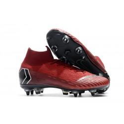 Scarpe Nike Mercurial Superfly VI Elite SG-Pro AC Rosso Nero