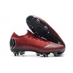 Nike Mercurial Vapor 12 SG Pro AC Scarpa Uomo - Rosso Nero