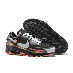 Sneakers Basse Off White x Nike Air Max 90 Nero Bianco Rosa