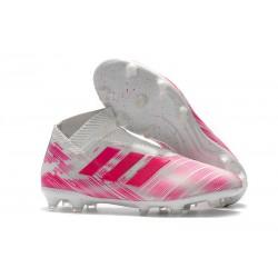 Nuove Scarpe da Calcio Adidas Nemeziz 18+ FG - Rosa Bianco