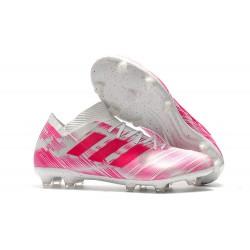 adidas Messi Nemeziz 18.1 FG - Bianco Rosa