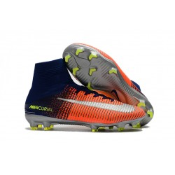Nike Mercurial Superfly V DF CR7 FG Scarpe Calcio - Blu Cromo Cremise