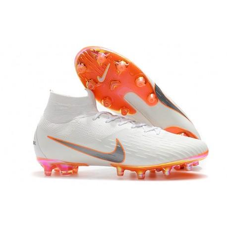 Scarpe Nuovo Nike Mercurial Superfly AG-Pro Bianco Arancio