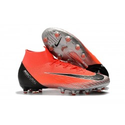 Scarpe Nuovo Nike Mercurial Superfly AG-Pro Rosso Argento Nero