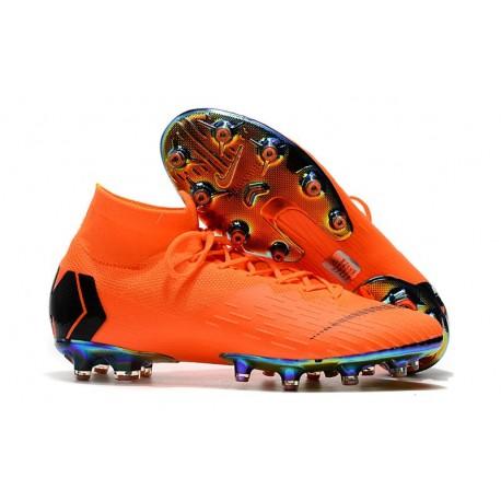 Scarpe Nuovo Nike Mercurial Superfly AG-Pro Naranja Negro
