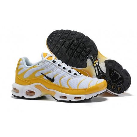 Nike Air Max Plus Sneakers Basse da Uomo - Bianco Giallo