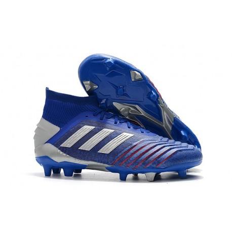 Scarpe da Calcio Adidas Predator 19.1 FG Blu Argento