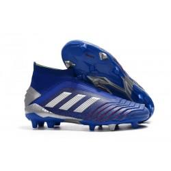adidas Predator 19+ FG Scarpe da Calcio Uomo - Blu Argento