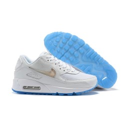 Zapatillas Nuovo Nike Air Max 90 Bianco Oro Blu