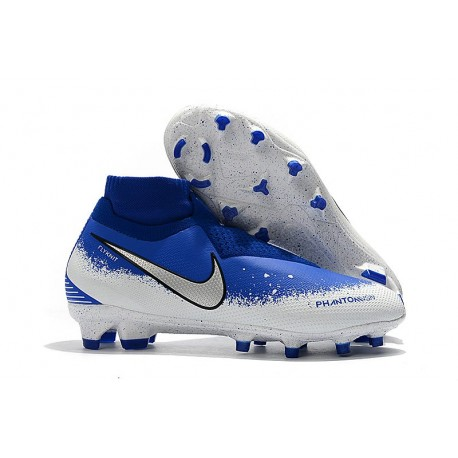 Nike Phantom VSN DF FG Scarpa Calcio - Bianco Blu