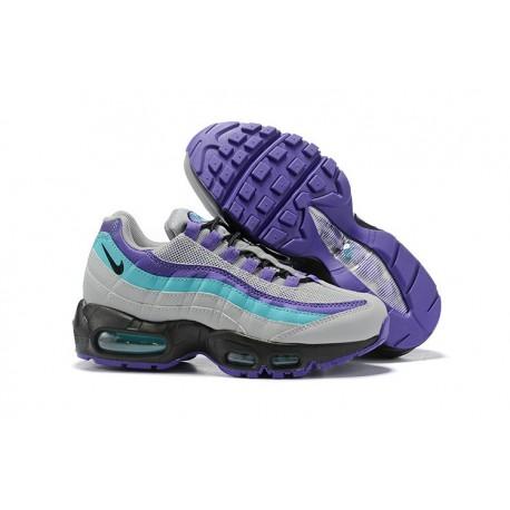 Nike Air Max 95 Sneakers Basse da Uomo Grigio Viola Blu