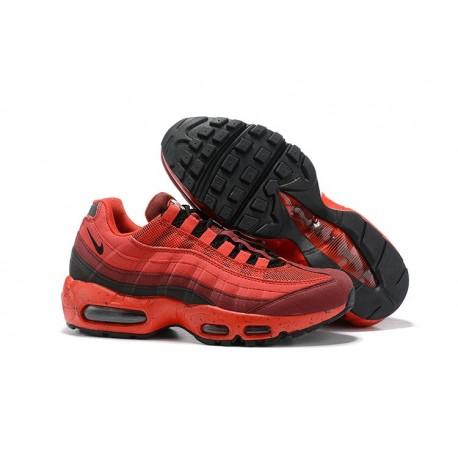 Nike Air Max 95 Sneakers Basse da Uomo Rosso Nero