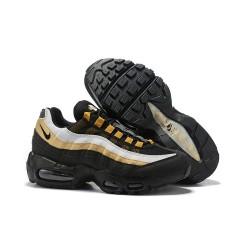 Nike Air Max 95 Sneakers Basse da Uomo Nero Bianco Oro