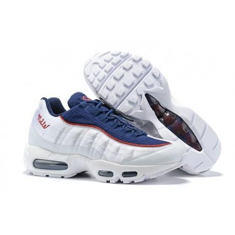 Nike Air Max 95 Sneakers Basse da Uomo Bianco Blu