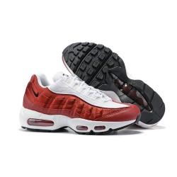 Nike Air Max 95 Sneakers Basse da Uomo Bianco Rosso