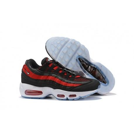Nike Air Max 95 Sneakers Basse da Uomo Nero Rosso